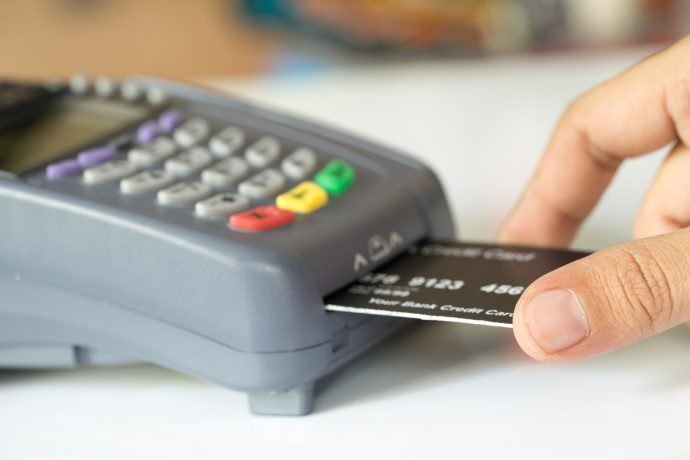 EMV chip credit card and terminal